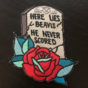 Beavis Gravestone Embroidered Patch